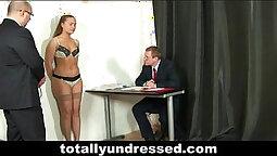 Late night interview, hardcore fucking with sexy enema bombshell
