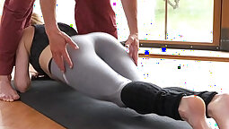 BLACKED Sexy Spinner Fucked Through Gym