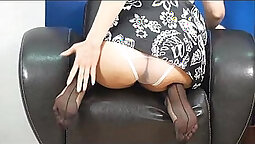 Russian Mature In Stockings Fucked Hard
