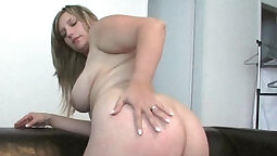 Thick bitch learns to take care of her debt