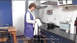 Amazing Mature Handjobs in the kitchen