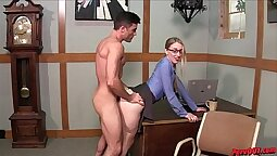 Katerina Gets Creampie From Boss
