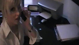 Sexy blonde secretary gets her tight pussy smashed