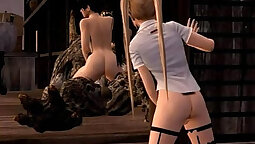 Angelic hentai anime cutie is sucking a large hard dick
