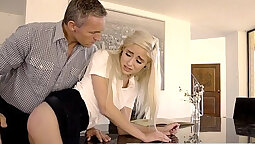 Amateur dad gag spanking way out