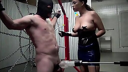 Breasty sexual encounter with slave girl