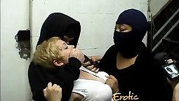 Chained Slut Ansandra Daniel Plays with Her Glass Dildo