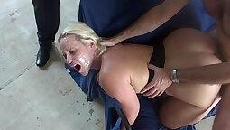 Big black Courtney Summer getting bukkake from her friend
