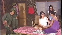 Buxom Thai MILF Kylie Sara rides military man Sophia